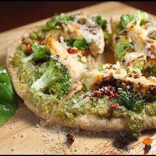 Chicken Broccoli Pesto Pizza