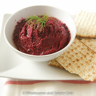 Baked Beets and Kidney Beans Hummus