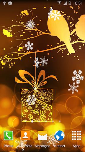 Абстрактные Новогодние Обои скачать на планшет Андроид