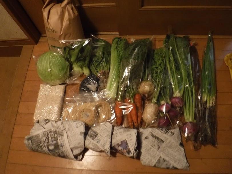 12/4に出荷したお野菜セット。小さいお子さんがいる4人家族ですが、オプション商品も含めたくさん買ってくれました。
