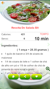 Download Saladas receitas:comida saudável ​​com Nutrição For PC Windows and Mac apk screenshot 4