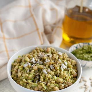 Farro and White Bean Risotto with Kale Pesto (Instant Pot).