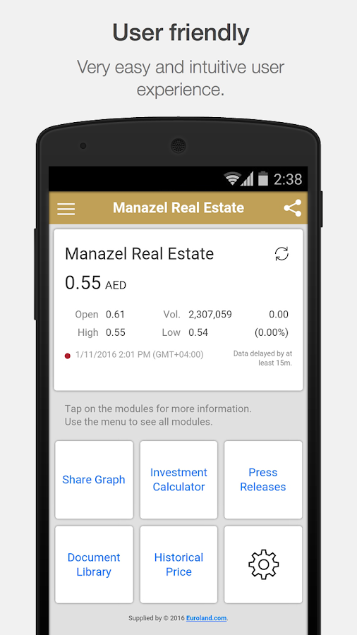 Manazel Investor Relations- screenshot
