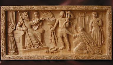 Photo: Juicio de Salomón. Tamaño: 70 x 33 cm. Talla en madera. Woodcarving.    Para leer algo más en relación con esta obra ir al blog: http://tallaenmadera-woodcarving-esculturas.blogspot.com/2010/01/el-juicio-de-salomon.html