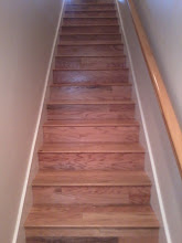 "Photo: Old Glory 3"" wide planks OGO321 color wildemess Value grade from Woodworth wood flooring installed on steps box with on sight made stair noising by http://www.floorswedo.com"