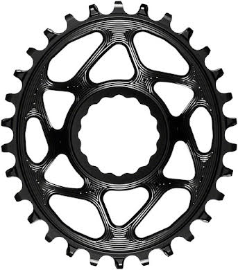Absolute Black Oval Narrow-Wide Direct Mount Chainring - CINCH Direct Mount, 3mm Offset alternate image 3