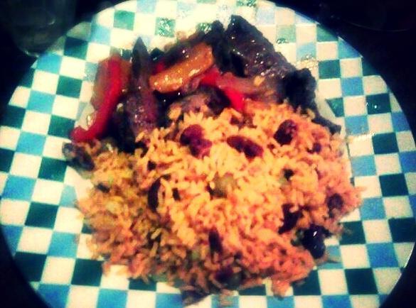 Taco Fried Steak With Spanish Rice Recipe