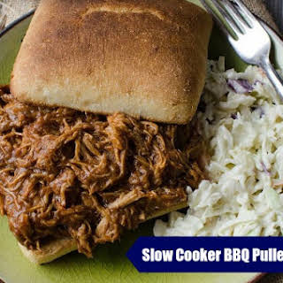 Slow Cooker BBQ Pulled Chicken.