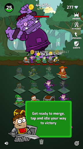 Merge Wars - Idle Hero Tycoon apkmind screenshots 1