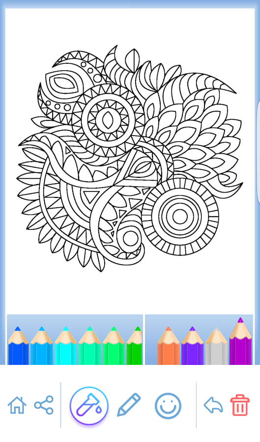 mandala coloring for adults screenshot - Mandala Coloring Books For Adults