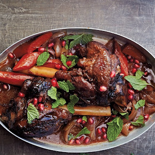 Moroccan Lamb Shanks with Pomegranate.