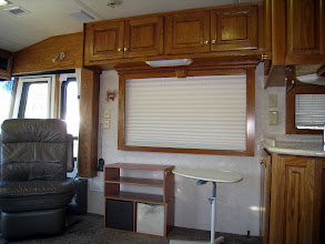 Photo: Passenger side window and open area to front of kitchen
