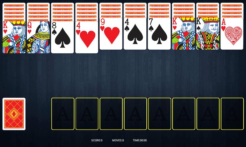 einfaches solitaire kartenspiel