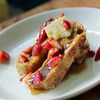 Roasted Strawberry Ciabatta French Toast.