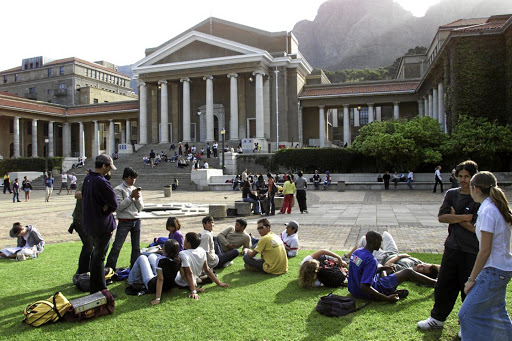 Students mingle on the campus at the University of Cape Town. Picture: SUPPLIED