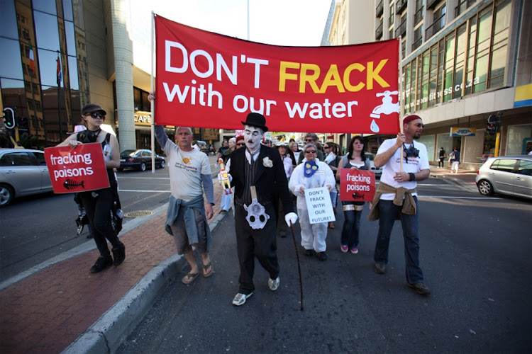 SAVING THE PLANET: Gaswalk, a protest march against fracking, in Cape Town in August 2011. Picture: THE TIMES