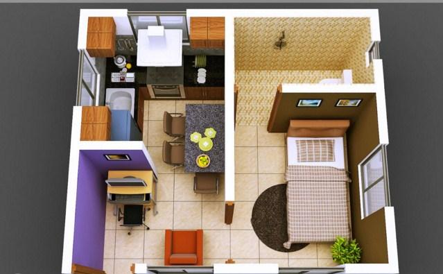 3d small house design screenshot