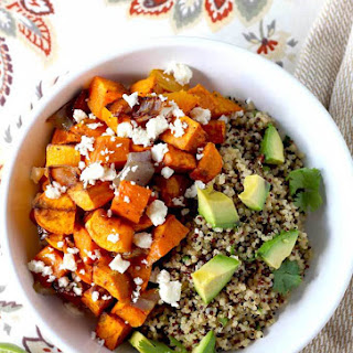 Mexican Buddha Bowl ~ Roasted Vegetables & Cilantro Lime Quinoa