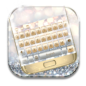 Gold And Silver Keyboard Theme