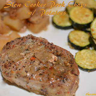 Slow Cooker Pork Chops w/ Potatoes