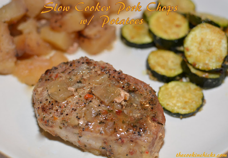 slow cooker pork chops w potatoes from the cookin chicks added by ...