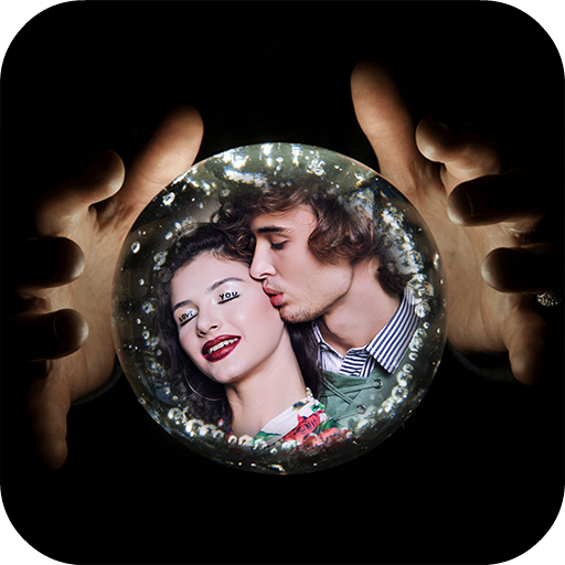 Crystal Ball Photo Frame