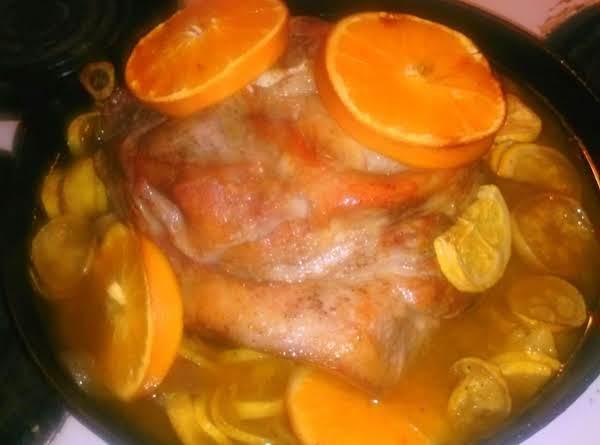 Orange Roasted Pork With Harvest Vegetables Recipe