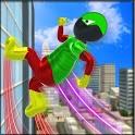 Flying Stickman Speed Robot Hero icon