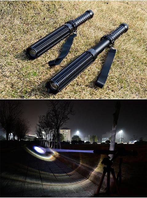 Đèn pin hộ vệ co rút siêu sáng ( kèm pin và sạc)