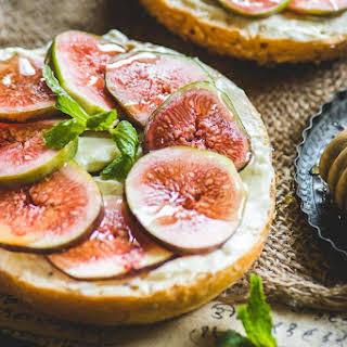 Fig Cream Cheese Bagel Sandwich.