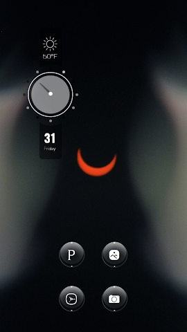 android The Curvy Red Moon in Midnight Screenshot 2