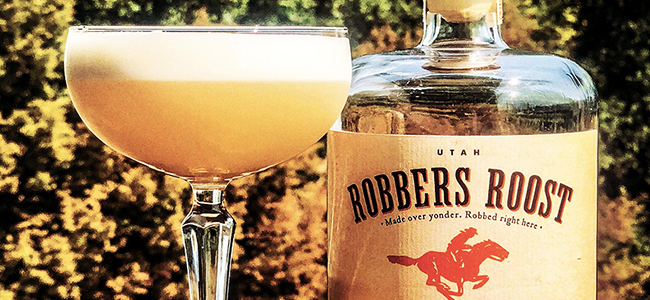 Peach Whiskey Sour by Waterpocket Distillery