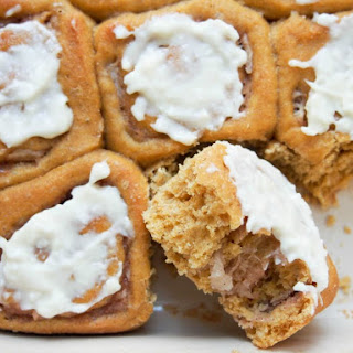Pumpkin Cinnamon Rolls With Maple-apple Filling