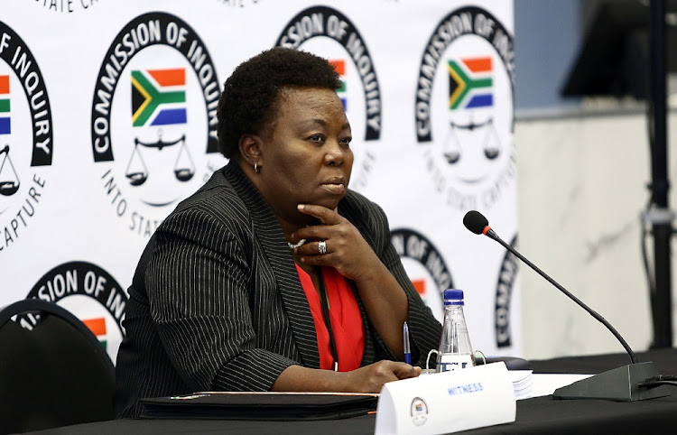 Acting Director General of GCIS, Phumla Williams giving testimony at the State Capture Commission of Inquiry at Parktown, Johannesburg, on Friday, August 31 2018.