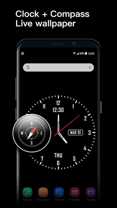 Analog Clock Watch Face Live Wallpaper APK Download