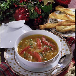 Onion and Tomato Soup.