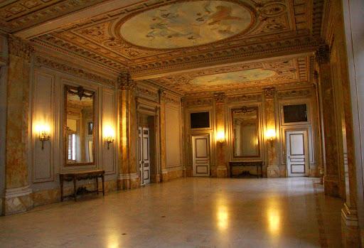 Cuba-presidential-palace - A public room inside the presidential palace in Havana, Cuba.