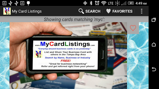 My Card Listings- screenshot thumbnail