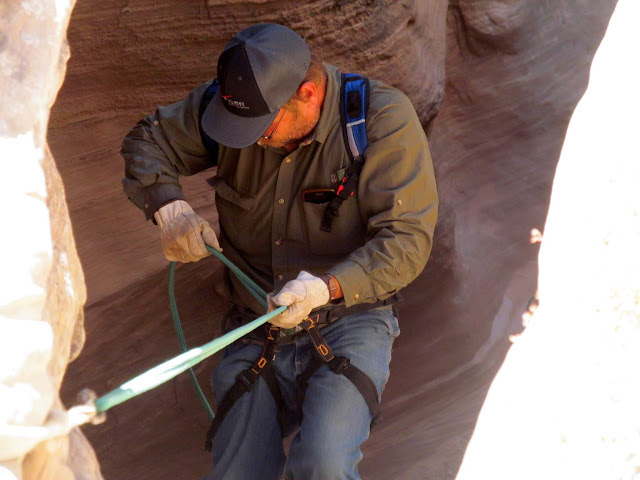 Mark on the second rappel