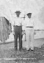 Photo: Peter Halgren and Osmund Osmundsen at the Panama Canal