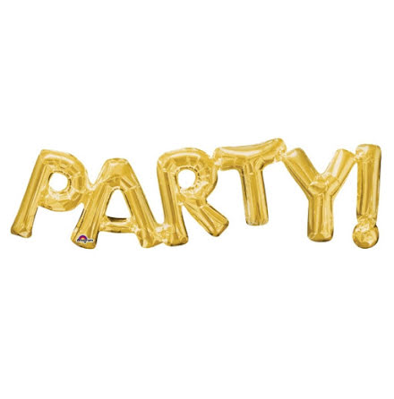 Folieballong - PARTY! guld