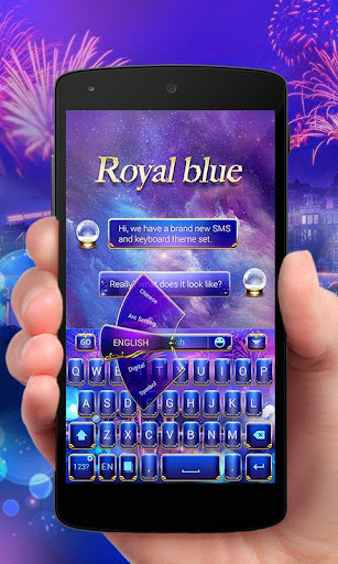 免費下載個人化APP|Royal Blue GO Keyboard Theme app開箱文|APP開箱王