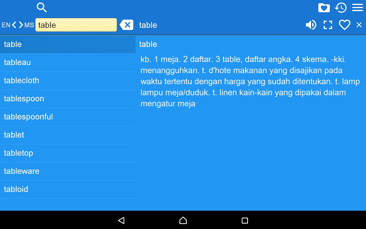 English Malay Dictionary Free- screenshot