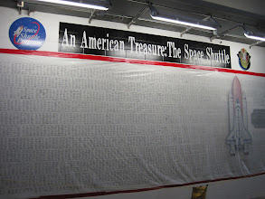 Photo: Everyone who worked on the Shuttle's 30 year program signed this wall.