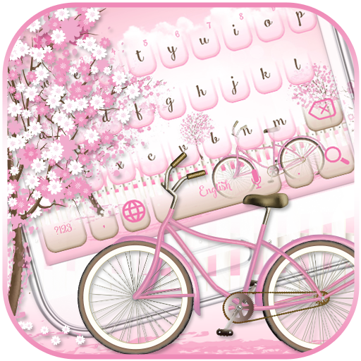 Pink Bicycle Keyboard Theme