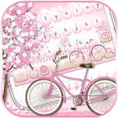 Sakura Pink Bicycle Keyboard Theme
