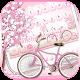 Sakura Pink Bicycle Keyboard Theme (app)