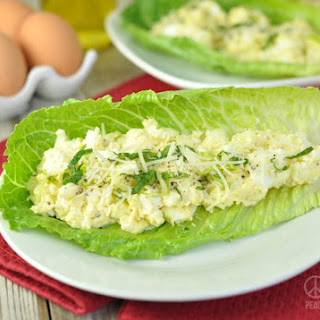 Caesar Egg Salad Lettuce Wraps – Low Carb, Gluten Free.