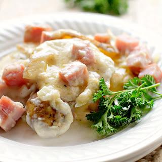 Ham and Scalloped Potato Casserole.