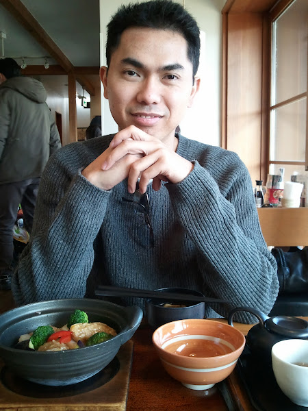 Photo: Having lunch at Yamanashi, Japan on Christmas day. Here's hoping I don't gain 7 pounds on this trip like I did during the last one... (Check out those jetlagged eye bags. I think they're bigger than my actual eyes.)